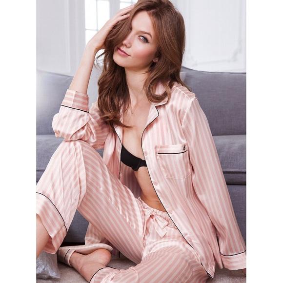 eade87b858ced NWT Victoria's Secret After Hours Silky Pajamas NWT